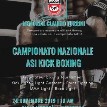 ASI KICKBOXING: MEMORIAL CLAUDIO TURRINI – PALASPORT DI MOLINELLA (BO) 23-24 NOVEMBRE