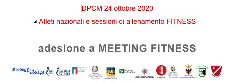 DPCM 24 ottobre 2020. Atleti nazionali e sessioni di allenamento FITNESS