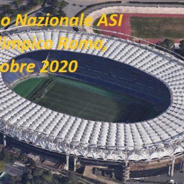 Congresso Nazionale ASI allo Stadio Olimpico, tribuna autorità, 10 e 11 ottobre 2020