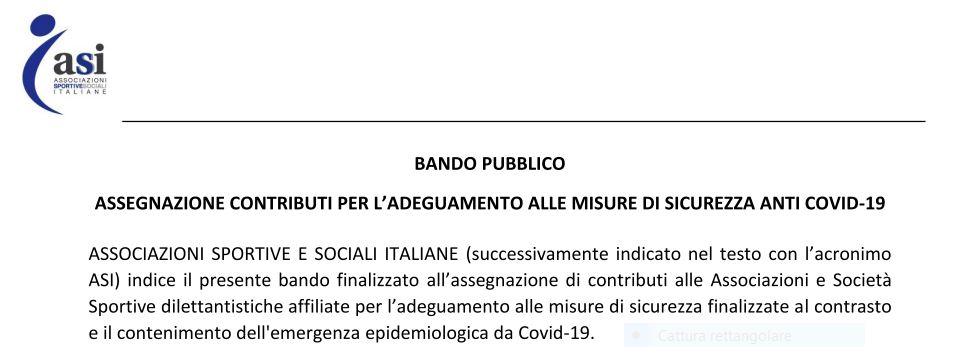 Bando Sport e Salute 1000 euro